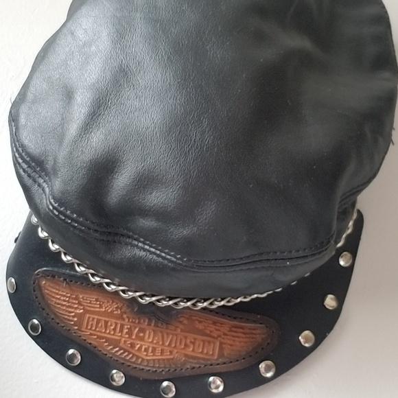 97ba09967 Rare Vintage Harley Davidson Leather Hat